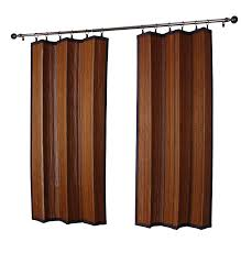 Amazon Outdoor Curtain Panels by Amazon Com Versailles Home Fashions Indoor Outdoor Bamboo Panel