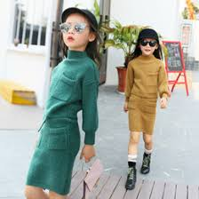 Wholesale Girls Clothing Set Autumn Winter Knit Sweater Two Piece Teenage Clothes Children 3 13T Kids Tracksuit