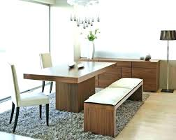 Dining Table Bench Seat With Back Set