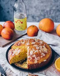 orangen pistazien kuchen mit rosenwasser