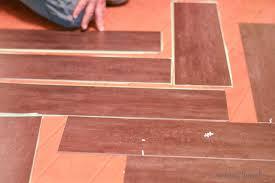 tips to install vinyl plank floors in a herringbone pattern plus