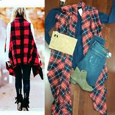Inspired By Thecourtneykerr Dallas Based Fashion Blogger And Reality Star Navy Tunic Dress 78 Articles Jeans 68 Red Flannel Vest 98