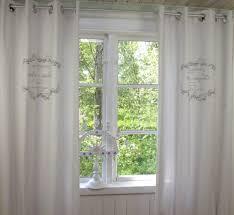 mathilde weiß bestickt gardine 2 st vorhang
