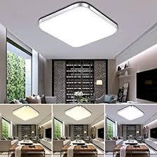 etime 64w led deckenleuchte dimmbar deckenle modern wohnzimmer le schlafzimmer küche panel leuchte 2700 6500k mit fernbedienung silber 65x65cm