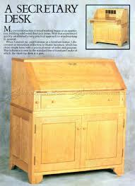 Secretary Desk With Hutch Plans by Diy Secretary Desk U2022 Woodarchivist