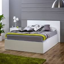 White High Gloss 6ft Super King Size Bed The Furniture Market