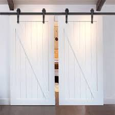 Single Track Bypass© Sliding Barn Door Hardware Kit Lets 2 Doors ... Sliding Barn Door Hdware Kit Witherow Top Mount Interior Haing Popular Cabinet Buy Backyards Decorating Ideas Decorative Hinges Glass For New Doors Fitting Product On Asusparapc Vintage Custom Sliding Barn Door With Windows Price Is For Knobs The Home Depot Amazoncom Yaheetech 12 Ft Double Antique Country Style Black Httphomecoukricahdwaredurimimastsliding Best 25 Track Ideas On Pinterest Doors Bathroom Industrial Convert Current To A And Buying Guide Strap Mechanism