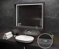 wandspiegel eiche oslo bad licht spiegel individuell nach