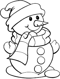 Printable Snowman Coloring Pages For Kids