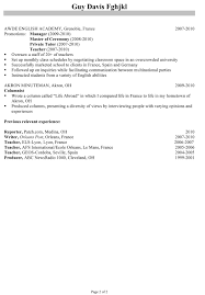 Daycare Worker Resume Inspirational Teacher Job Good Profile Examples Of