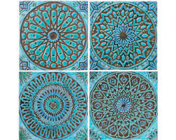 set of 3 wood wall tiles wall sculptures by jeemadodecor on etsy