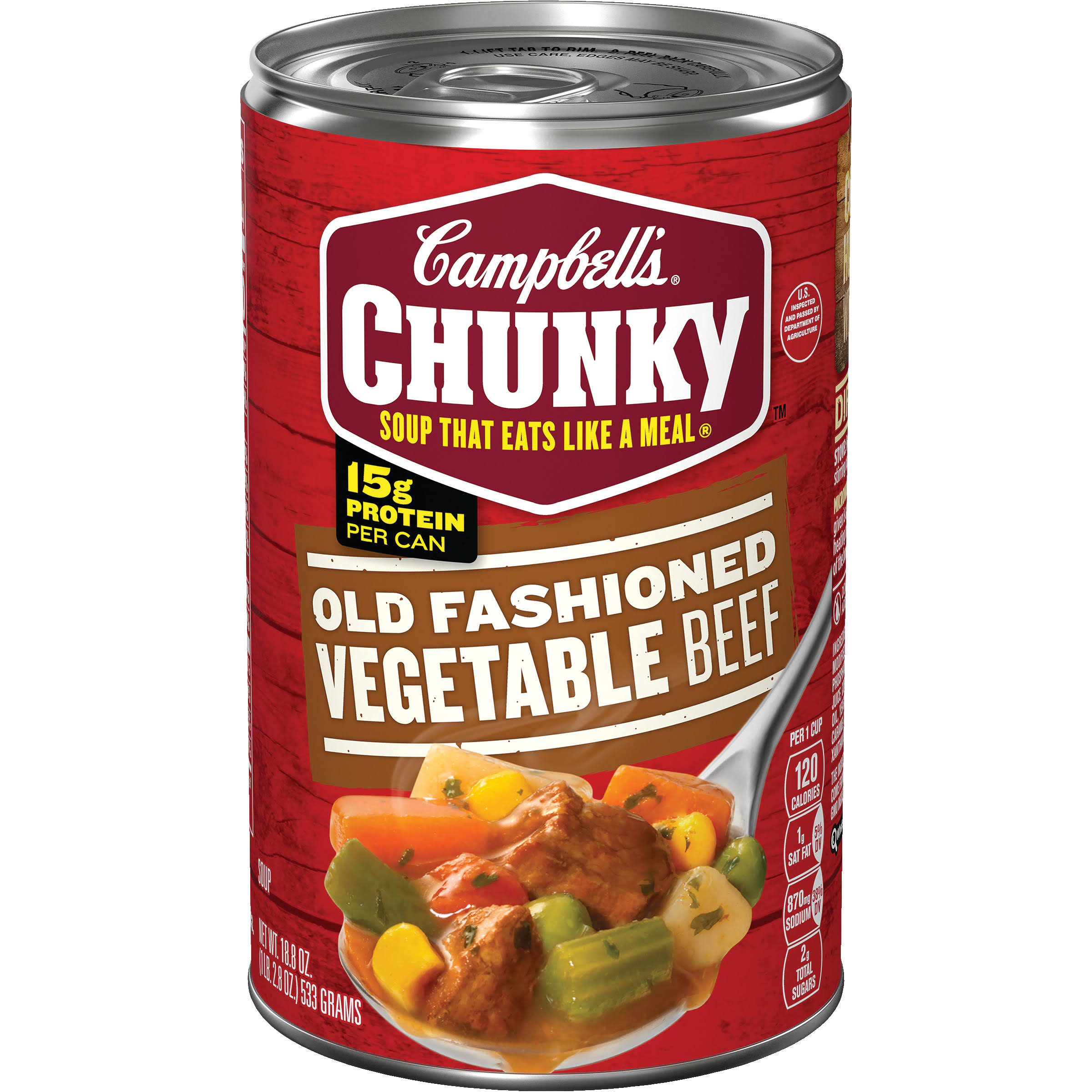 Campbell's Chunky Old Fashioned Vegetable Beef Soup - 18.8oz