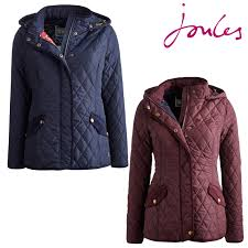 joules marcotte ladies quilted hooded jacket r