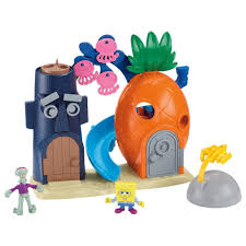 Spongebob Bathroom Decor Walmart by Imaginext Spongebob Squarepants Bottom Play Set Walmart Com