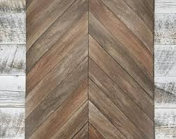 Chevron Rustic Wood Plank Parisian Dark Brown Parquet Wallpaper 2540 24006
