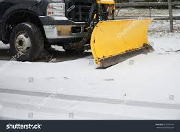 100 Truck With Snow Plow Truck With Snowplow Installed In The Residential Street EZ Canvas