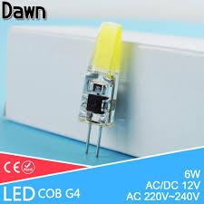 aliexpress buy top quality g4 ac 220v cob led bulb ac dc 12v