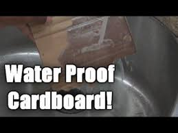 How to make cardboard waterproof