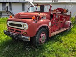 100 Old Fire Truck Dead In Garden Stock Photo Picture And Royalty Free