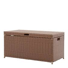 jeco honey wicker patio furniture storage deck box ori003 c the