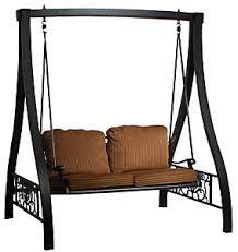 Hanamint Grand Tuscany Patio Furniture by Hanamint Grand Tuscany Swing With Stand Wyndham Mocha Patio