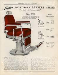 Emil J Paidar Barber Chair Headrest by 1930 U0027s Paidar Barber Shop U0026 Beauty Shop Fixtures Catalog No 40
