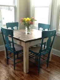White Farmhouse Table Small Tables Homes Kitchen Set Breakfast Nook