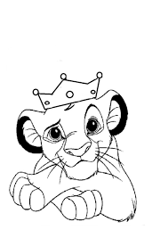 Little Lion King Free Coloring Page