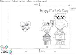 Printable Mothers Day Coloring Card Templates