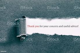 Useful Advice To For Your Thank You For Your Concern And Useful Advice Stock Photo Image Now