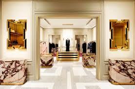 Gray And White Terrazzo Veneziano Floors Purple Veined Breccia Dei Medici Marble Display Cabinets Brass Gold Mirrors Conspire To Create An
