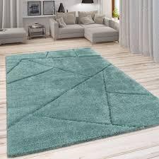 teppiche shaggy teppich grün hochflor wohnzimmer flauschig