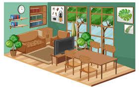 wohnzimmer interieur mit möbeln und grüner wand 1592185