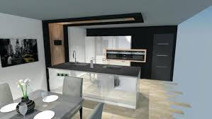 cuisine alu cuisine moderne noir et bois beau cuisine alu et bois cop def