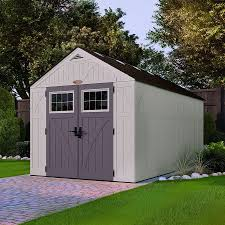 Suncast Plastic Garage Storage Cabinets by Install Plastic Garages And Sheds Garage Designs And Ideas