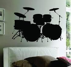 dabbledown decals wall mural music drums drummer band drumstick