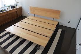 bed platform bed frame plans home design ideas
