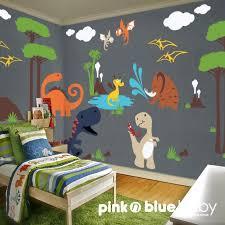NEW DESIGN Kids Wall Decal Dino Land Nursery Removable Vinyl