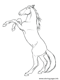 Horse Coloring Pages Realistic S Jumping