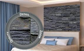 great poster schwarze steinwand wanddekoration wandbild steinmauer naturstein mauer industrie design deko steioptik 3d wandverkleidung