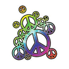 Rainbow Peace Signs Temporary Tattoo For Your Inner Hippie