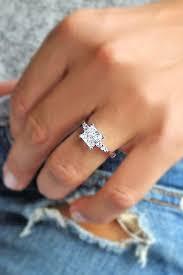 24 Breathtaking Princess Cut Engagement Rings Pinterest