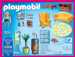 playmobil zubehör für 5308 wohnzimmer mit kaminofen für
