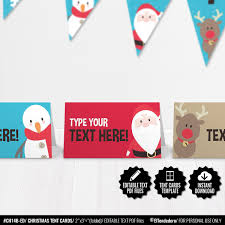 SELF EDITABLE Christmas Place Cards Buffet Food Tent Cards Etsy