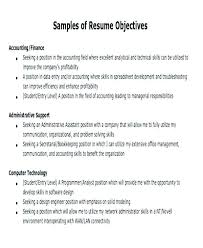 Student Objective For Resume Career Profession Aims Instance Objectives Example