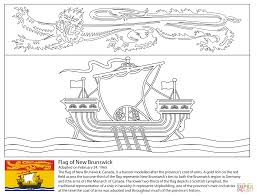Click The Flag Of New Brunswick Coloring Pages