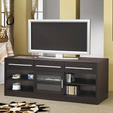 Coaster Contemporary Computer Desk by Contemporary Cappuccino Brown Tv Stand With Wire Management Drawer