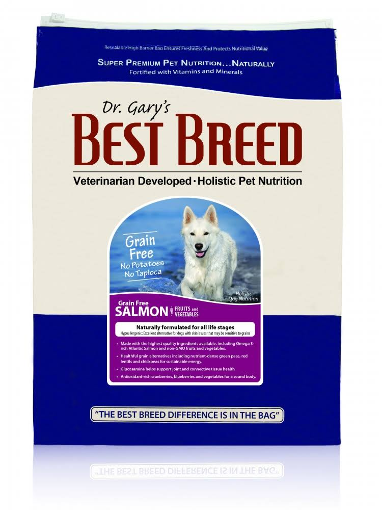 Dr. Gary's Best Breed Grain Free Holistic Salmon with Fruits & Vegetables Dry Dog Food 30-lb