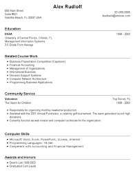 No Work Experience Resume Template With Education In University Of Central Florida And Related Course International Business