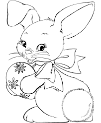 Easter Bunny Face Coloring Page Cartoon Baby And Pages